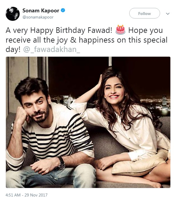 Sonam-Kapoor-Wished-Fawad-Khan-On-His-Birthday